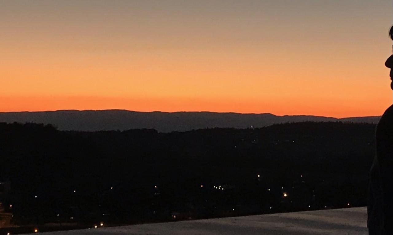 Coucher de soleil sur la chaîne du Jura